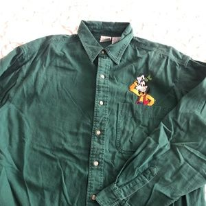 Vintage 90's Men's Denim Disney Goofy Shirt